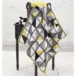 Geometry Baby Blanket Free Crochet Pattern