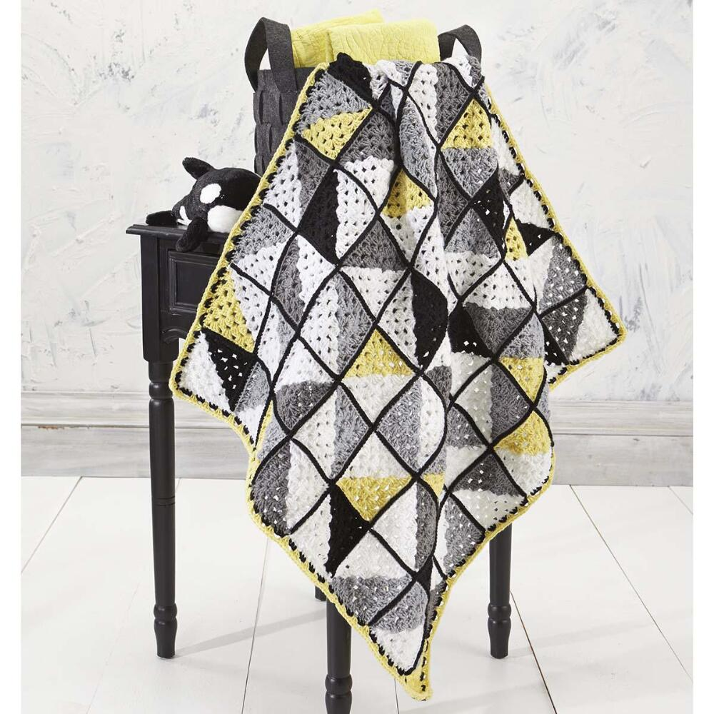 Geometry Baby Blanket Free Crochet Pattern