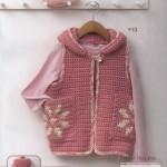 Girls Cute Hooded Crochet Vest Pattern