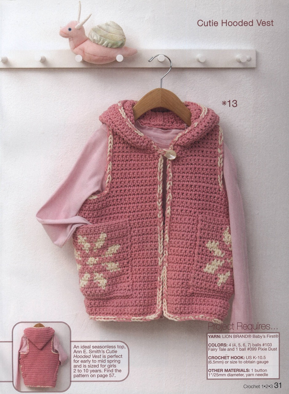 Girls Cute Hooded Crochet Vest Pattern ⋆ Crochet Kingdom