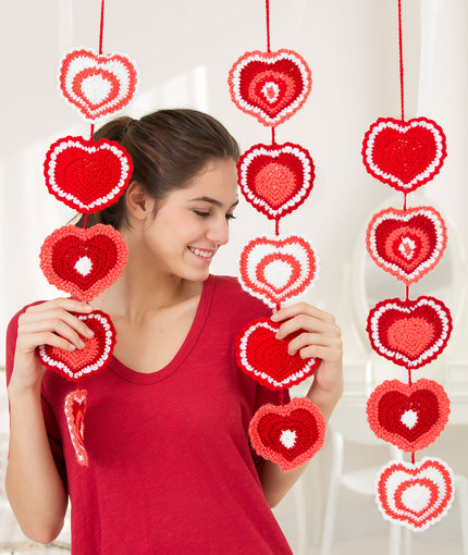Heart Strings Garland Free Crochet Pattern