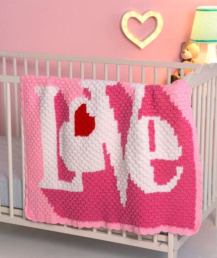 Heart Throb Free Baby Blanket to Crochet