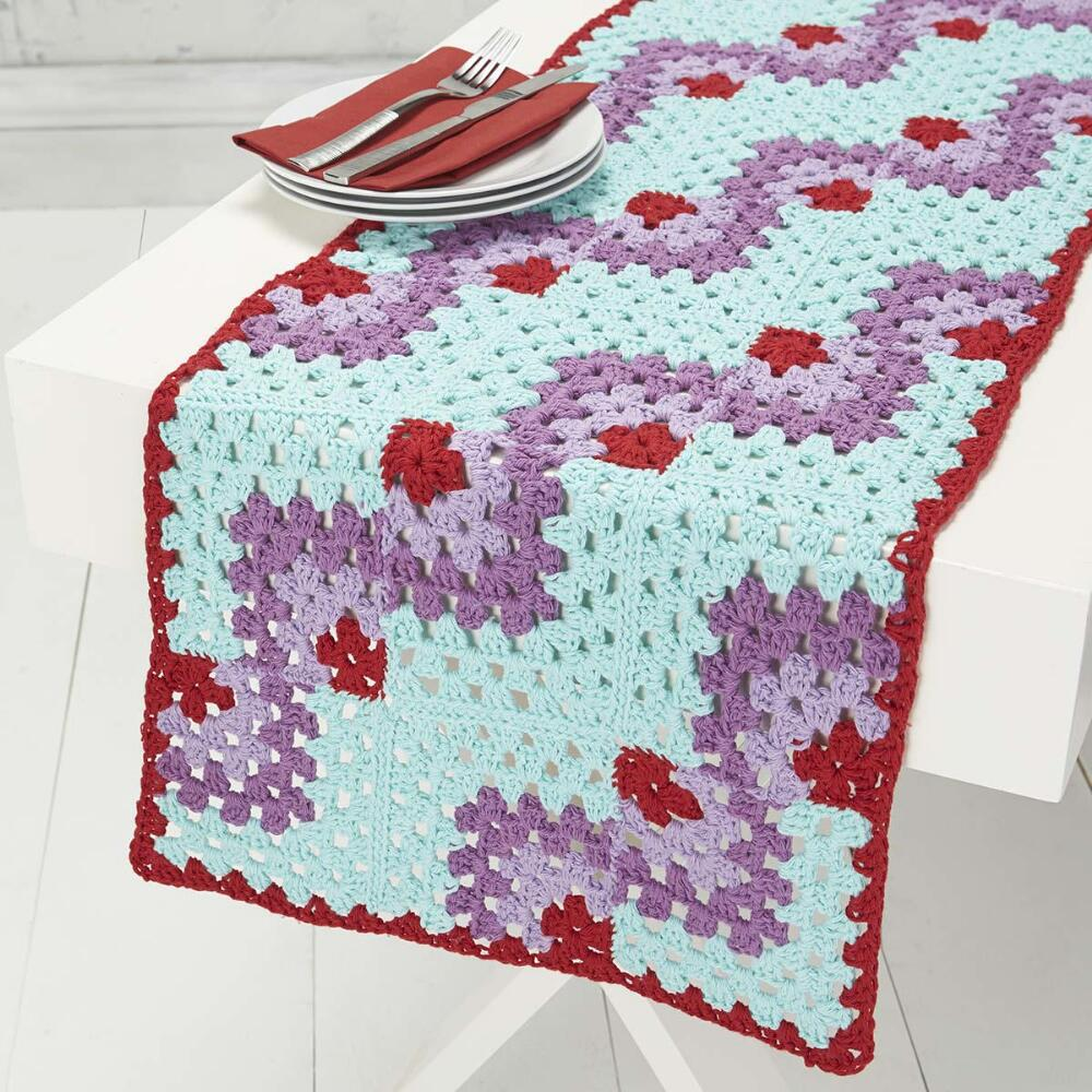 Mitered Table Runner Free Crochet Pattern