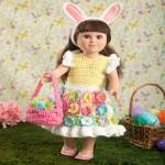 My Doll's Easter Frock Free Crochet Pattern