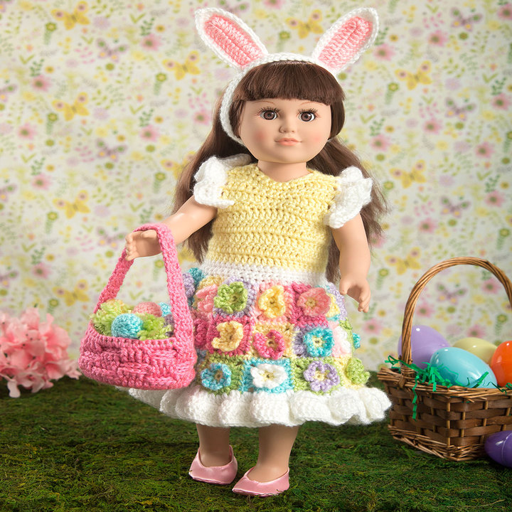 My Doll S Easter Frock Free Crochet Pattern ⋆ Crochet Kingdom