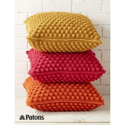 Patons Bobble-licious Pillows Free Crochet Pattern