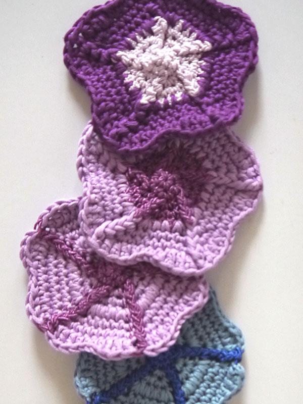 Petunia Blossom Coaster Free Crochet Pattern 1