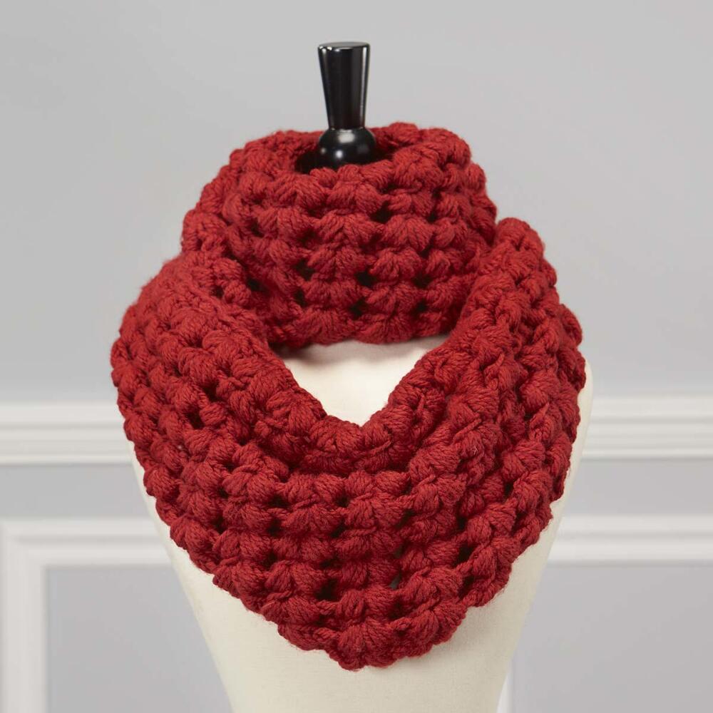 Puff Pastry Cowl Free Crochet Pattern ⋆ Crochet Kingdom