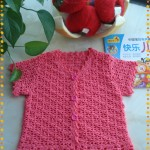 Short sleeve girls cardigan crochet