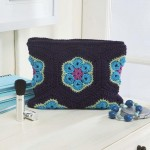 Summer Violets Pouch Free Crochet Pattern
