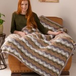 Unexpected Waves Throw Free Crochet Pattern