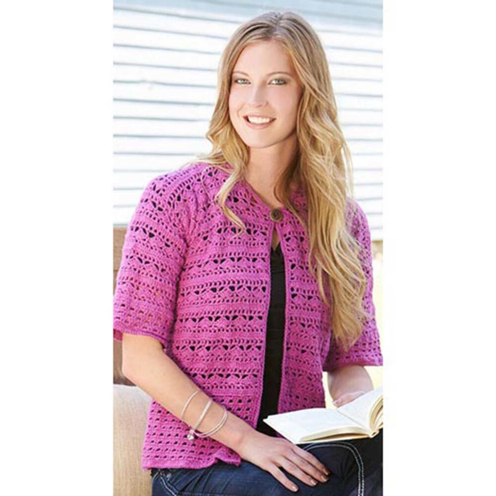 Windows on the World Cardigan Free Crochet Pattern