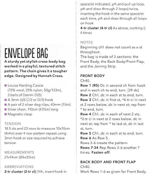 Blue Envelop Bag to Crochet ⋆ Crochet Kingdom