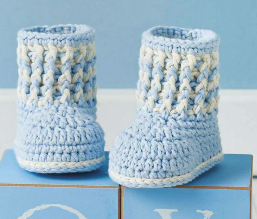 Baby Boy Booties To Crochet Crochet Kingdom