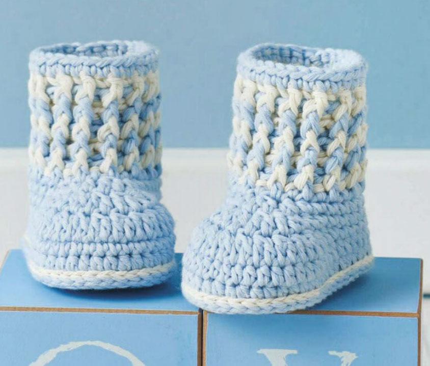Baby Boy Booties To Crochet ⋆ Crochet Kingdom