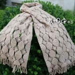 Diamond stitch crochet scarf pattern