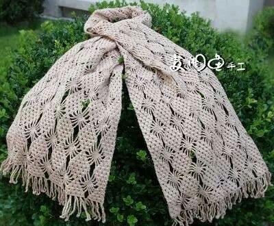 Diamond stitch crochet scarf pattern