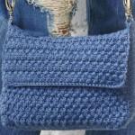Blue Envelop Bag to Crochet
