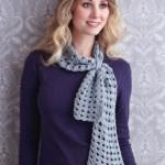 Iced Lace Crochet Scarf Pattern