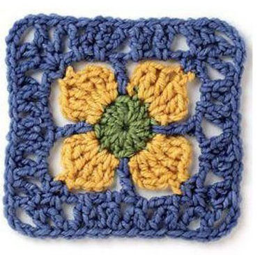 Unique Granny Square Crochet Diagram ⋆ Crochet Kingdom