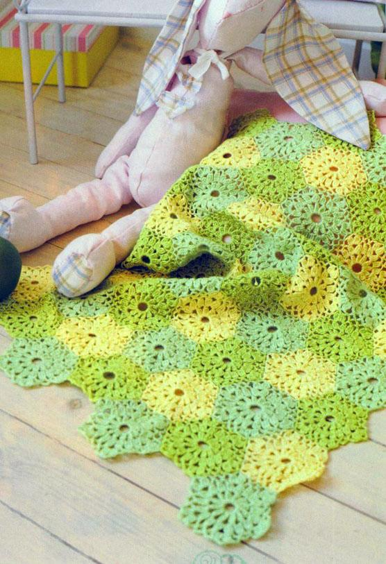 Hexagonal blanket crochet diagram