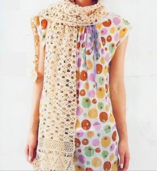 large crochet scarf pattern