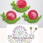 Little Snail Applique Crochet Pattern