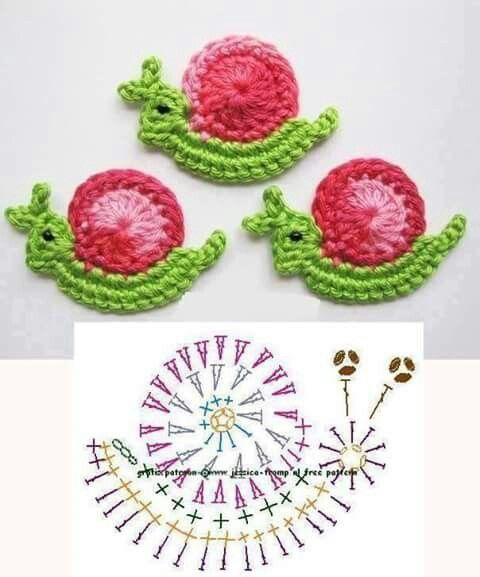 Little Snail Applique Crochet Pattern Crochet Kingdom