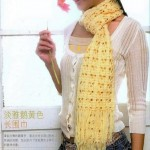 Pretty square pattern scarf pattern