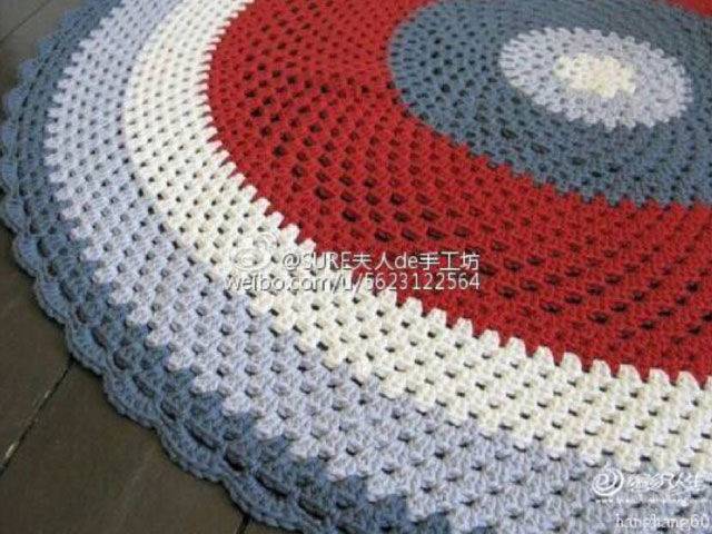 Crochet Patterns Round : Round rug crochet pattern ? Crochet Kingdom