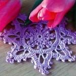 Snowflake Crochet Coaster