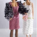 20's Flapper Dress for Barbie Free Crochet Pattern