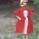 70's Coat & Hat Ensemble for Barbie Free Crochet Clothes Pattern