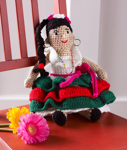 Alejandra's Party Doll free crochet