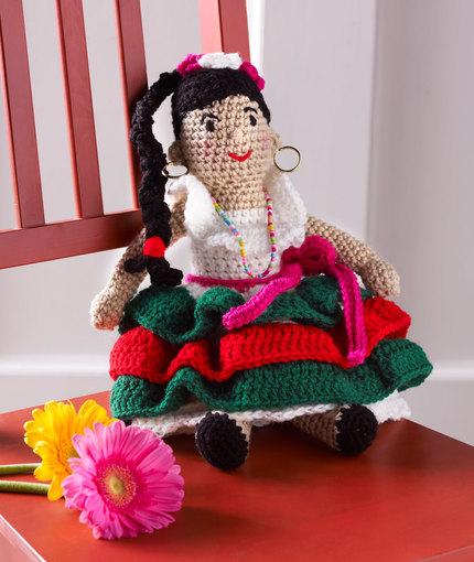 Alejandra's Party Doll free crochet