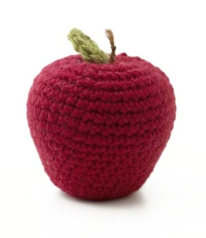 Free Crochet Pattern: Amigurumi Apple