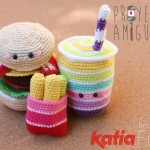 Amigurumi Burger, Drink and Frees Crochet