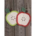 Apple a Day Dishcloth Free Crochet Pattern