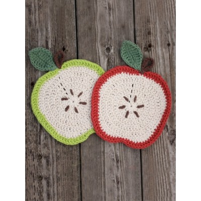 Free Crochet Pattern A Day : Apple a Day Dishcloth Free Crochet Pattern ? Crochet Kingdom