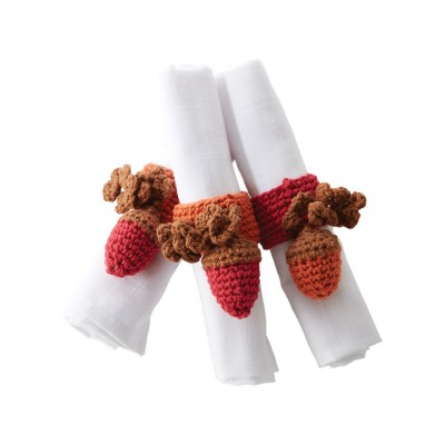 Autumn Acorns Napkin Rings