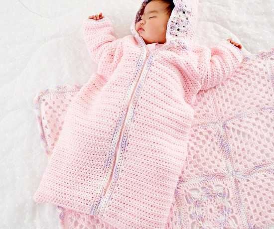 Free Crochet Pattern Baby Sleeping Bag : Crochet Baby Sleeping Bag Pattern ? Crochet Kingdom