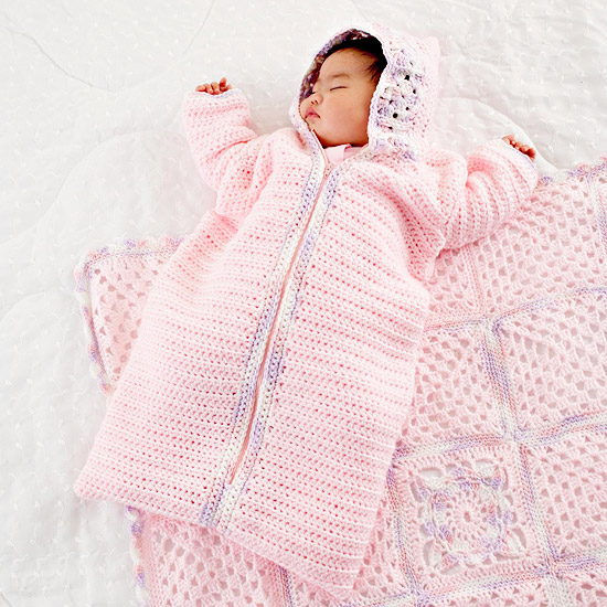 5fad2817d Crochet Baby Sleeping Bag Pattern ⋆ Crochet Kingdom (1 free crochet ...