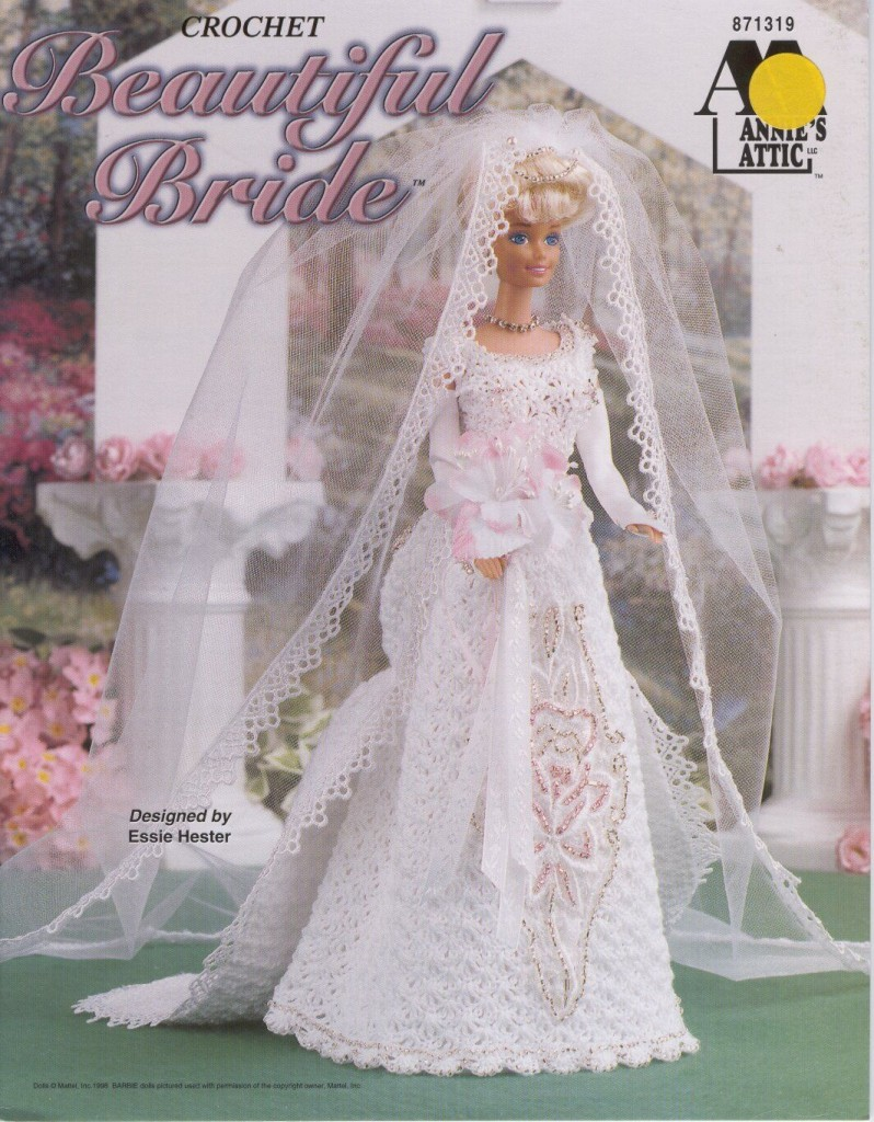 Beautiful bridal gown for barbie free crochet pattern for Crochet wedding dress patterns