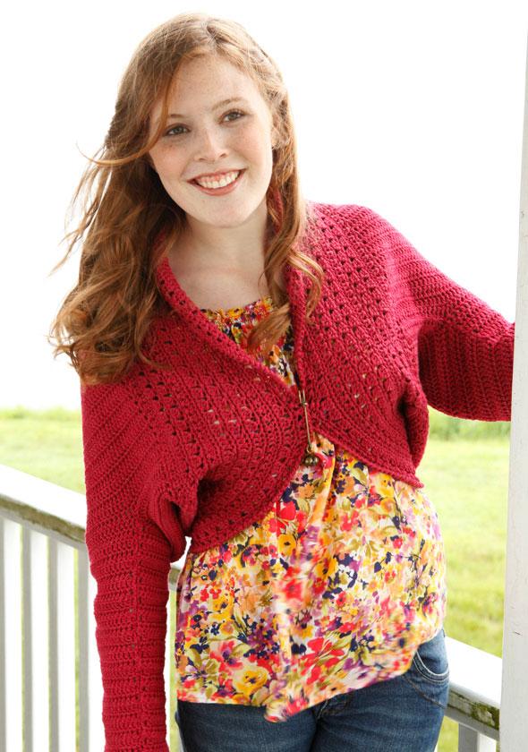 Betty Cardigan Free Crochet Pattern