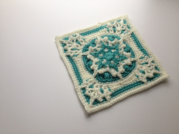 Blizzard Warning! Free Crochet Square Pattern