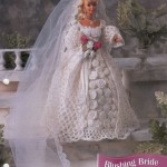 Blushing Bride Gown for Barbie Free Crochet Pattern