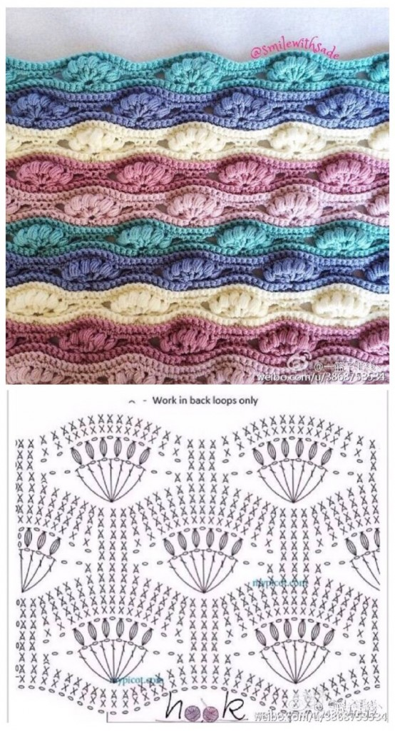 Crochet Chain Stitch Diagram : fan crochet stitch Archives ? Crochet Kingdom (31 free ...