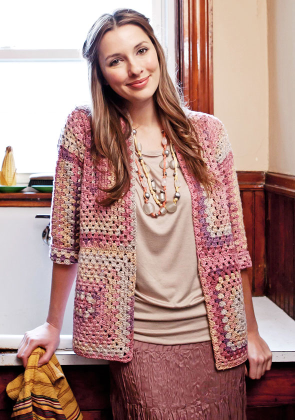 Braque Cardigan Free Crochet Pattern