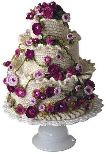 Buttercream Free Crochet Cake Pattern