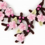 Cherry Blossom Necklace Free Crochet Pattern